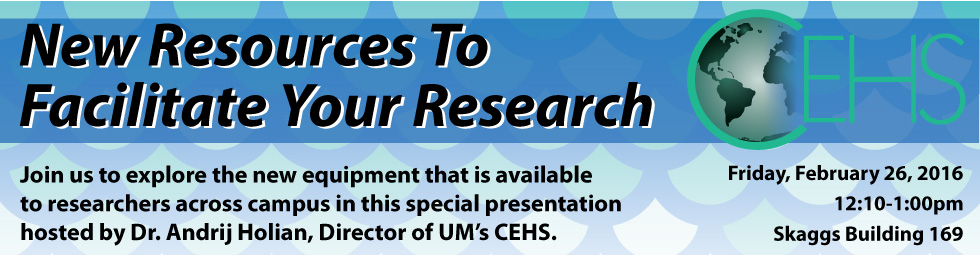 Seminar- New Resources to Facilitate Your Research, Feb. 26, 2016
