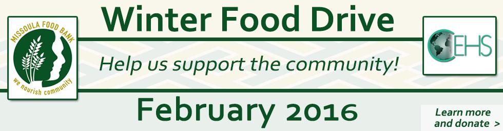 Winter Food Drive 2016